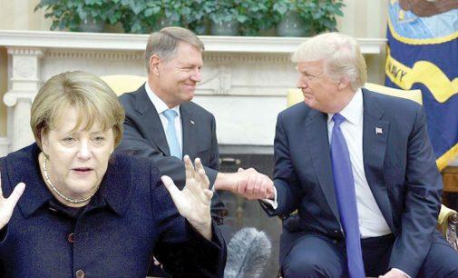Merkel va şterge curând zâmbetul tâmp de pe faţa lui Iohannis, de la întâlnirea cu Trump