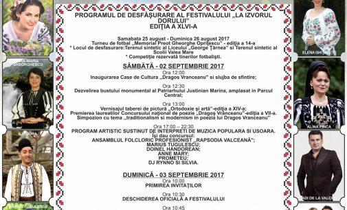 """De 46 de ani, oraşul Băbeni găzduieşte Festivalul de folclor """"La Izvorul Dorului"""""""
