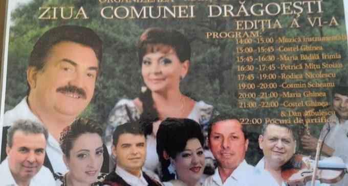 Petrică Mîţu Stoian cantă, de Sf. Maria, la Ziua Comunei Drăgoeşti