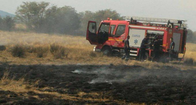 Incendiu la Drăgoeşti. Peste 30 de hectare de teren cuprinse de flăcări