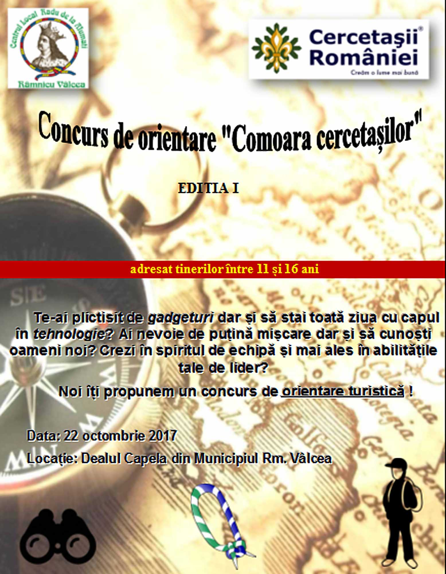 """""""Comoara Cercetașilor"""" – concurs de orientare turistică pe Capela"""
