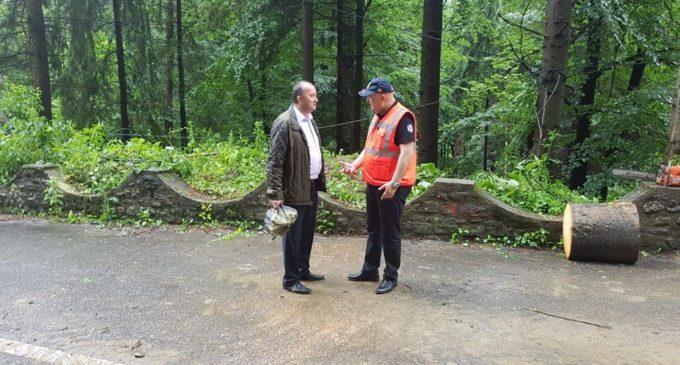"""Apel disperat al primarului Sorin Vasilache către Compania Naţională de Drumuri:  """"Este nevoie urgent de refacerea alunecării de teren de pe DN 64"""""""