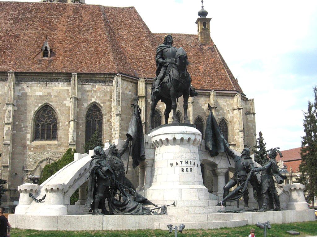 Ansamblul Monumental Matei Corvin se identifică cu centrul oraşului Cluj-Napoca