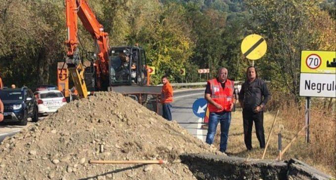 La Bărbătești, CNAIR a început lucrările de reabiltare a DN 67