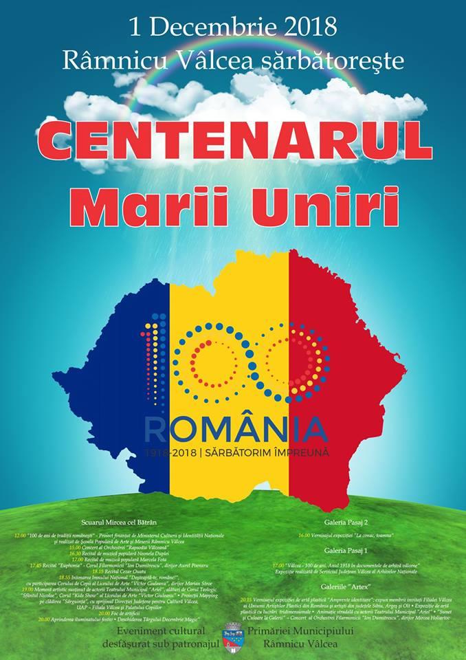 Ce evenimente pregătește Primăria Râmnicului pentru a sărbători Centenarul Marii Uniri