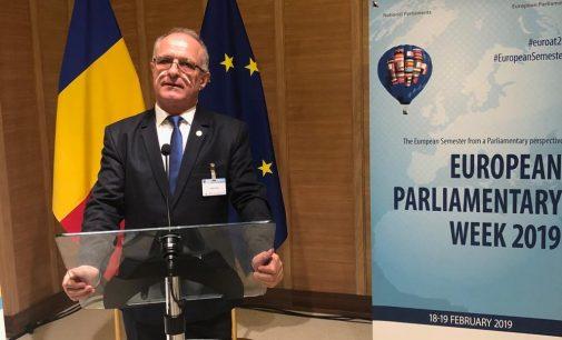 Vasile Cocoș, prezent la Bruxelles, la Conferința interparlamentară pentru stabilitate, coordonare și guvernanță economică în Uniunea Europeană