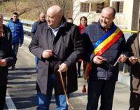 Podul din Olăneşti, pe drumul către Schitul Bradu, a fost inaugurat oficial