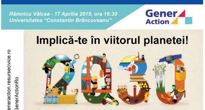 Tinerii din Vâlcea, informați despre dezvoltarea durabilă globală
