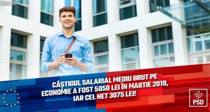 Un record al guvernarii PSD: Castigul salarial mediu net a depasit 3000 lei, iar brutul a depasit 5000 lei!