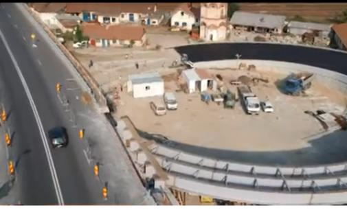 Bretelele de legătură de la podul Goranu, construite cu muncitori africani