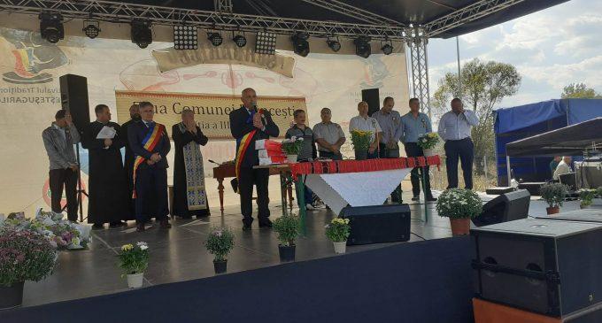 Primarul Daniel Paraschiv, la înălţime de Ziua comunei Frânceşti