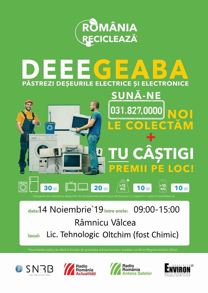 """""""România reciclează"""" din nou la Râmnic, pe 14 noiembrie"""