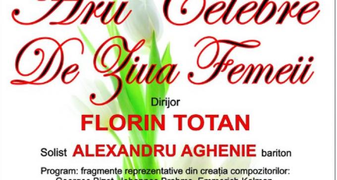 """Ziua Femeii onorată printr-un concert simbolic al Filarmonicii """"Ion Dumitrescu"""""""
