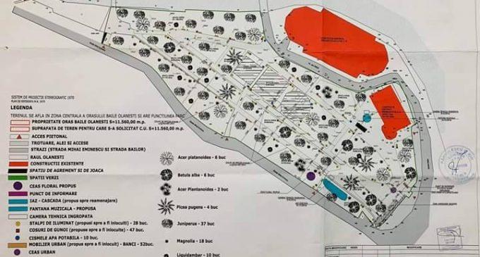 Parcul Unirii  va aduce un aer modern oraşului Băile Olăneşti