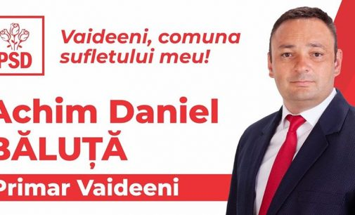 """Daniel Băluţă: """"Vaideeni este comuna sufletului meu"""""""