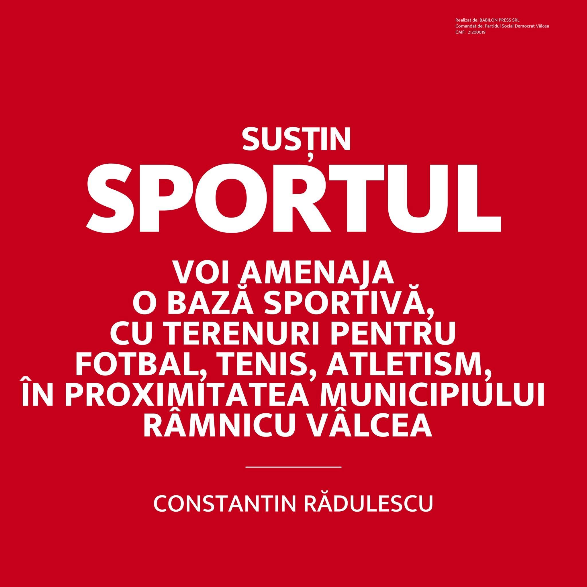 """Constantin RĂDULESCU: """"Am susținut și voi susține sportul vâlcean!"""""""