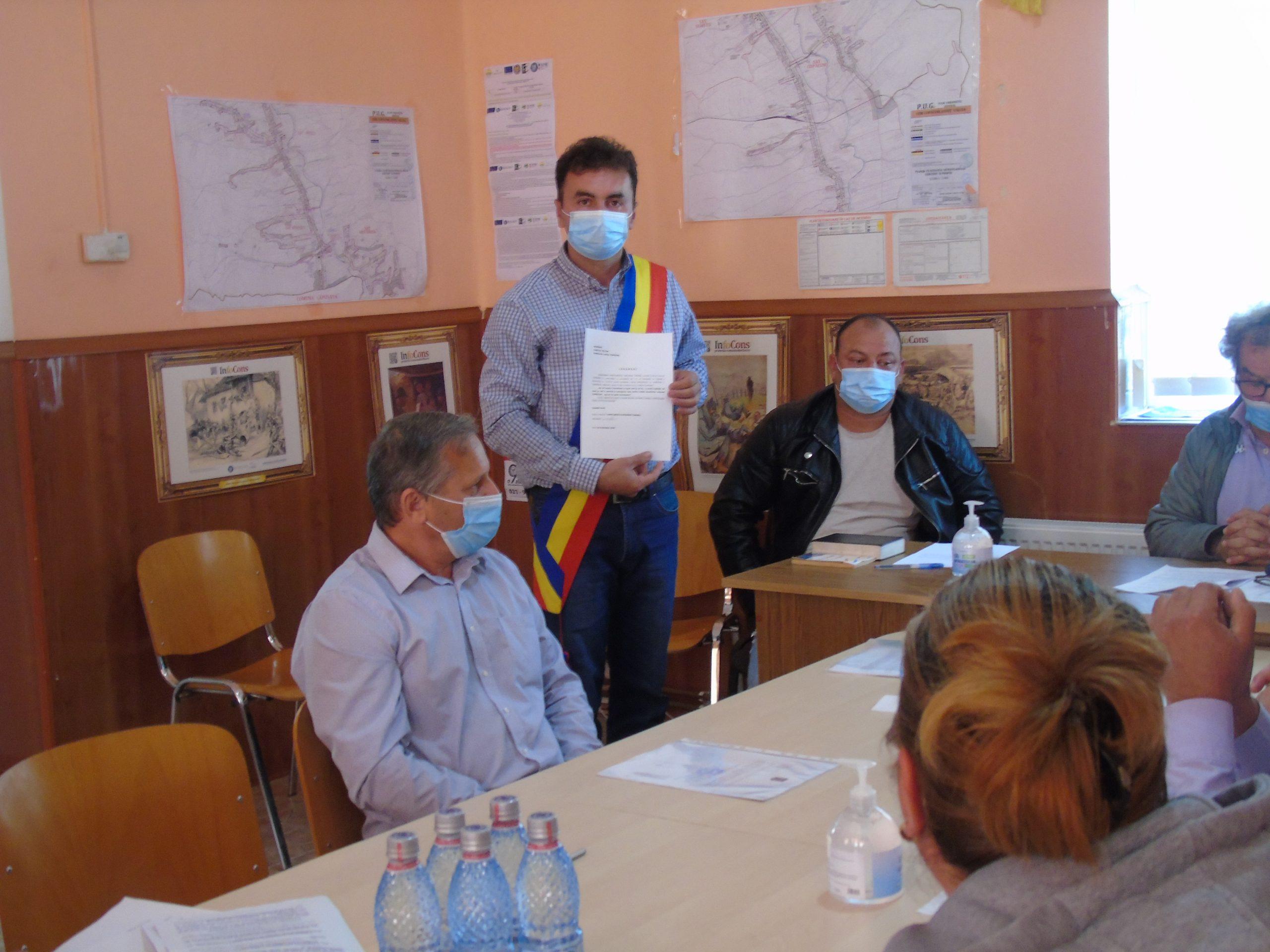 Tironel Tamplarescu a depus jurământul pentru cel de-al treilea mandat