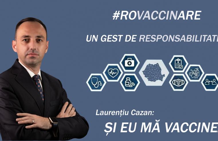 """Laurențiu Cazan, deputat PNL: """" Mă voi vaccina anti – COVID – 19."""""""