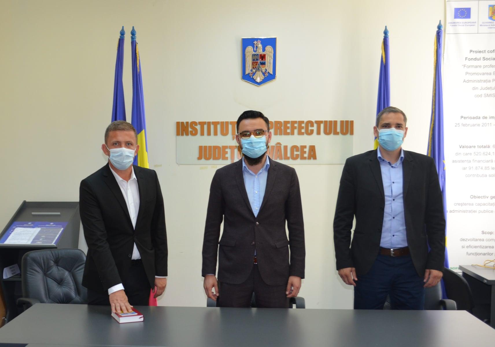 Avocatul Victor George Stănculescu este noul subprefect al județului Vâlcea