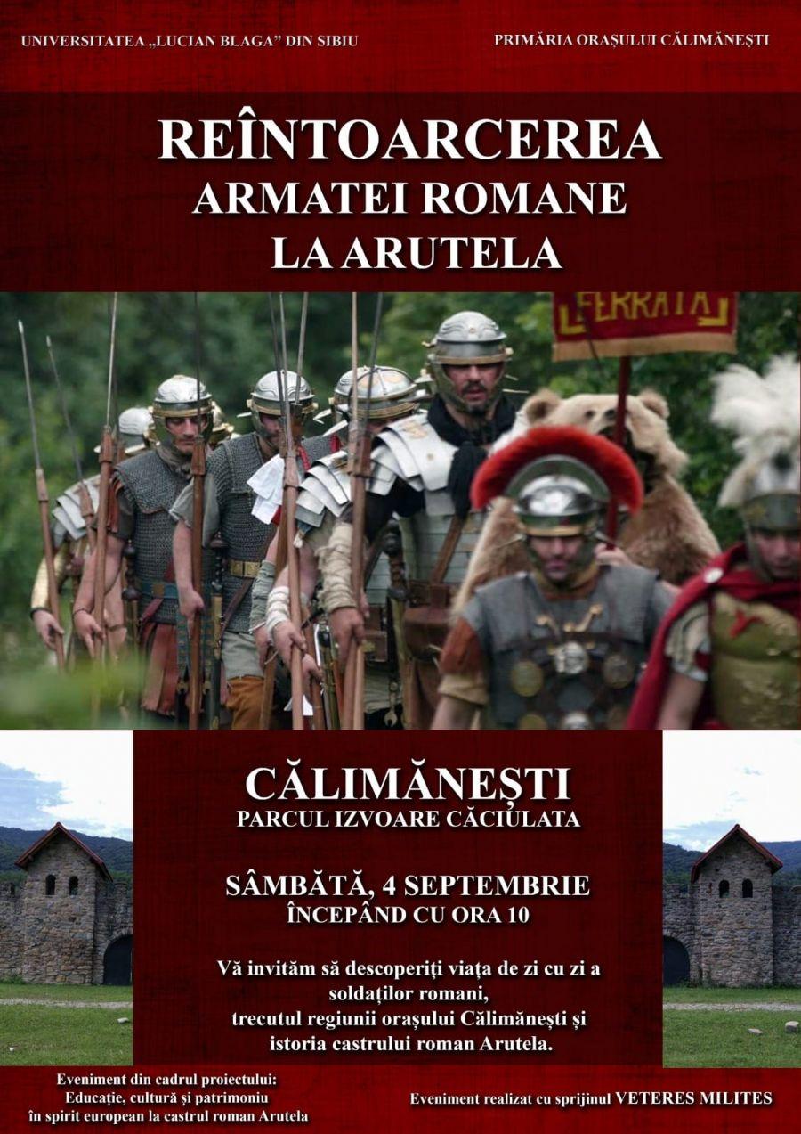 Sâmbătă, 4 septembrie, lecție de istorie antică în Parcul Izvoare din Căciulata