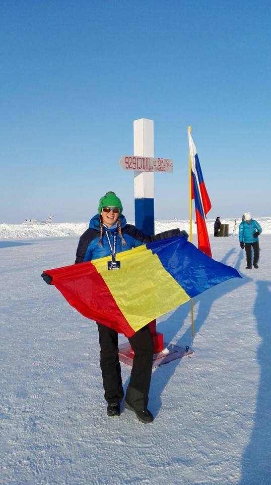 Vâlceanca Simona Dumitrescu a obținut o performanță de răsunet la North Pole Marathon 2017!
