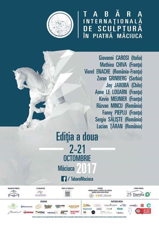 În perioada 2-21 octombrie va avea loc a II-a ediţie a Taberei Internaţionale de Sculptură Măciu