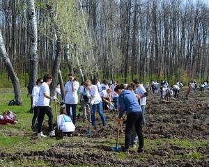 Parc dendrologic la Roșiile. Direcția Silvică Vâlcea marchează debutul Lunii Plantării Arborilor