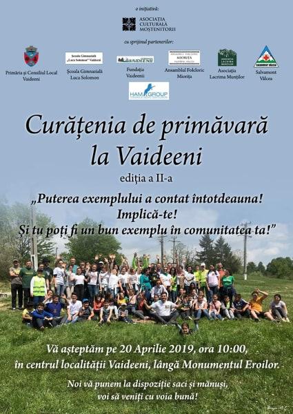 Acţiune de ecologizare în comuna Vaideeni