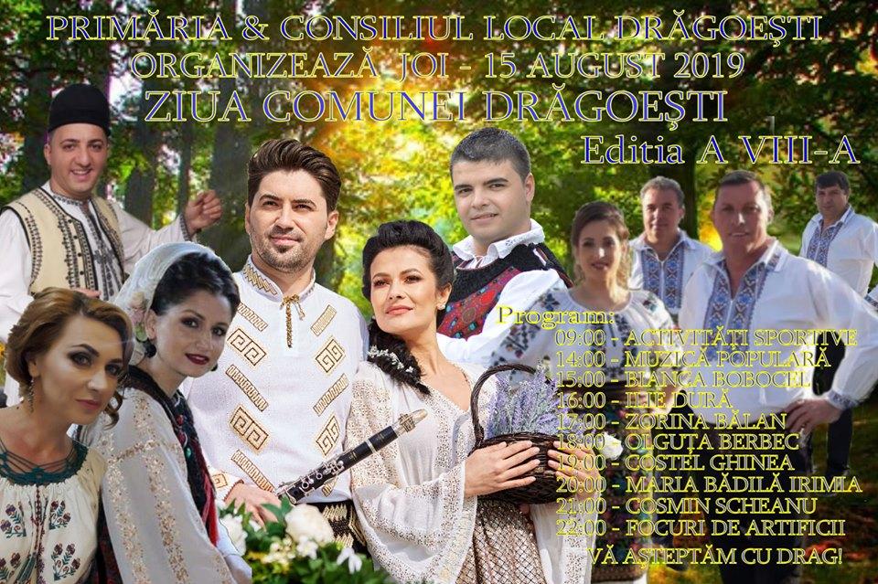 Pe 15 august, de Sf.Maria, comuna Drăgoești îmbracă straie de sărbătoare