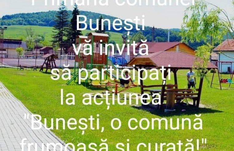 Locuitorii din Buneşti, implicaţi într-o acţiune de ecologizare a comunei