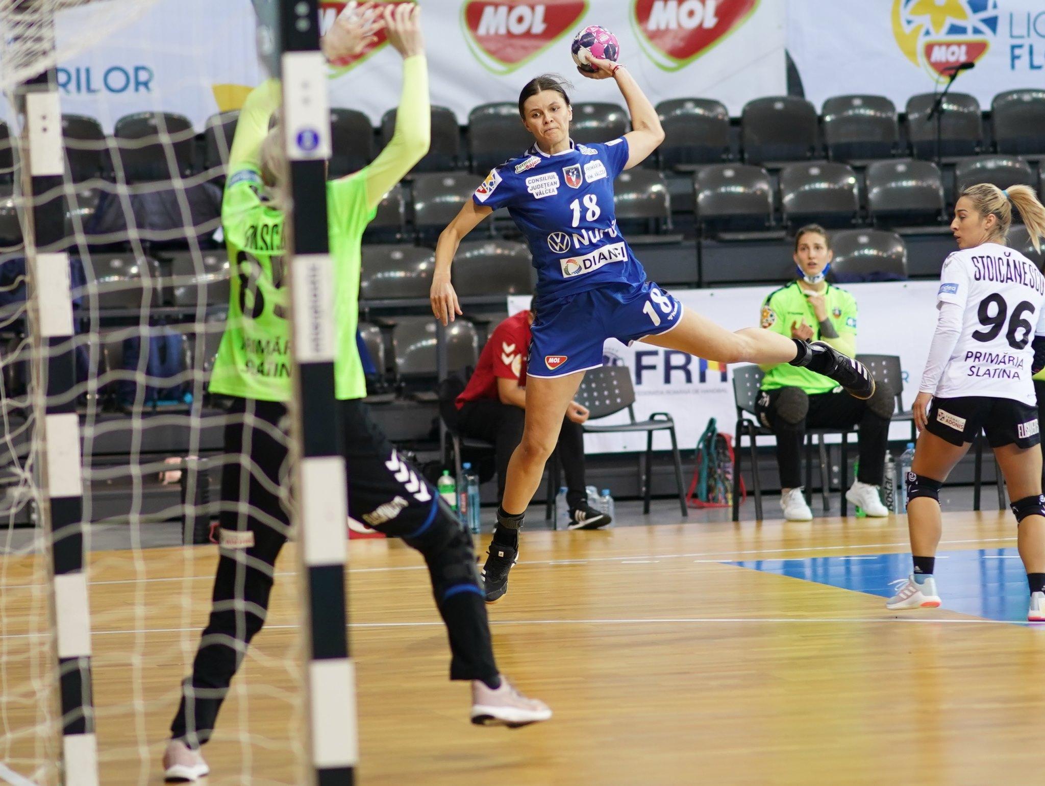 Vâlcea câștigă detașat cu Galați și rămâne pe locul 3 în campionat