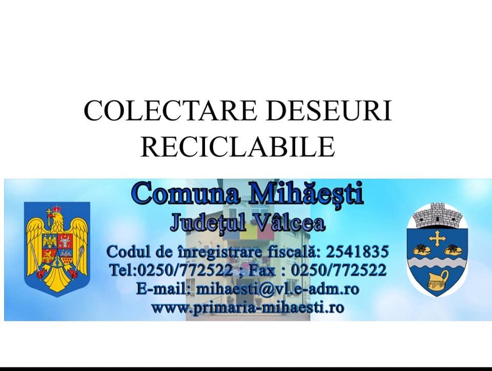 Primarul Constantin Bărzăgeanu face apel pentru colectarea selectivă a gunoiului